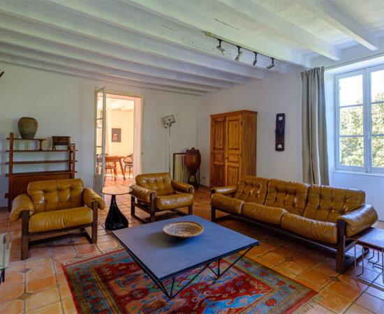 Living room at Château de Bellerive
